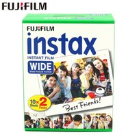 простые пленки оптовых-Brand New Instax Wide Film Plain Edge Twin Packs (20 Photos) for Instant Photo Camera Instax 200 210 Free Shipping
