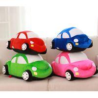 peluches mario rosalina achat en gros de-Cartoon Creative Cute Kids Cars Modèle en peluche Jouets pour enfants pour les enfants Kawaii forme de voiture Coussin cadeaux Coussin d'anniversaire