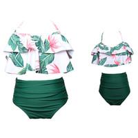 mama mädchen anzug großhandel-Passende Familie Badeanzüge Mutter Mädchen Bikini Badeanzug Für Mutter und Tochter Badeanzüge Weibliche Kinder Baby Kind Strand Badebekleidung