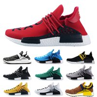 the best attitude 83097 333fa 2018 New NMD Human Race trail Zapatillas de running Hombre Mujer Pharrell  Williams NMD Runner Shoes Amarillo noble ink core Negro Blanco Rojo  Zapatilla de ...