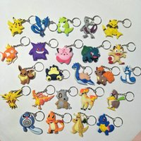 Wholesale charmander keychain for sale - Group buy 42 Style pikachu Charmander Bulbasaur Squirtle Silica Gel Keychain CM Action Figure KeyChain Ring Keyring Fashion Accessories