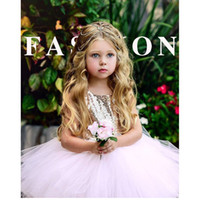 Wholesale girls 3t wedding dress for sale - Princess Children Baby Dress Wedding Sleeveless Sequin Bow Evening Dress Summer Girl Evening DressSolid Color Princess Dress Tutu