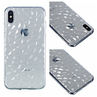 Wholesale mobile cell phone cover crystal online – custom Soft TPU Case For Iphone XR XS MAX X Plus S D Bling Diamond Grain Silicone Rubber Back Slim Business Mobile Cell Phone Crystal Cover