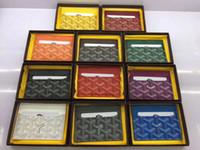 Wholesale orange vintage wallet resale online - Men Wallet Business Card Holder Mank Cardholder Leather Cow Pickup Package Bus Card Holder Slim Leather Multi card bit Pack Bags