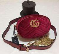 kadife çantalar toptan satış-Yeni Çanta Kadın Çanta Bel Çantası Fanny Paketleri lady Kemer Çanta kadın Ünlü Göğüs Çanta Kadife 04