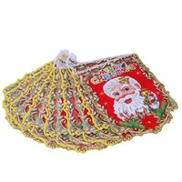 Wholesale hanging santa flags resale online - Christmas Hanging Flags Cartoon Santa Claus Hanging Flags Noel Banner Pennant Christmas Decorations for Home