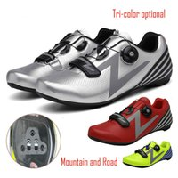 Wholesale bicycling shoes resale online - Mtb Cycling shoes Road Men Racing Lock Shoes Outdoor Trainers Mountain Bicycle Professional Shoes Compatible Racing Sneakers