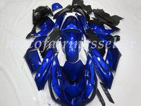 kawasaki ninja zx14r großhandel-OEM-Qualität Neue ABS-Spritzguss Fairings Kits 100% fit für Kawasaki Ninja ZX14R 06 07 08 09 10 11 ZX14R Karosserie glänzend Blau Gloss Set