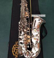 New MARK VI Classic Model Alto Eb Tune Saxophone Nickel Plated E Flat Sax With Case Mouthpiece Professional Free Shipping