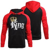 Wholesale red queen clothing online – ideas Men Hoodies Women Sweatshirts Couple wear clothes Queen King Print Hoodie Winter long sleeve hoodie clothing