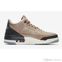 satılık biyo toptan satış-Ucuz erkek Jumpman 3 basketbol ayakkabıları 3 s NRG JTH Bio Bej Saf Beyaz Siyah Yün Katrina aj3 hava uçuşlar kutusu ile sneakers çizmeler satılık