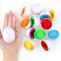 bildung spielzeug rätsel großhandel-Babyspielzeug Eier Bildung Lernspielzeug Gemischte Form Wise Pretend Puzzle Intelligente Eier Baby Kid Egg Learning Puzzles für Kinder Geschenke LT622