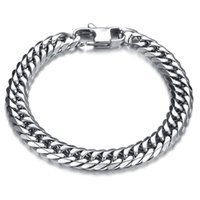 Wholesale mens 316l bicycle chain resale online - Punk Style L Stainless Steel Mens Bracelet Classical Biker Bicycle Heavy Metal MM Link Chain Jewelry Bracelets For Men