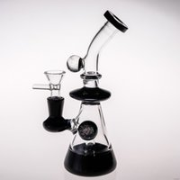 Wholesale hookah bowls sale for sale - Group buy Hot Sale Glass Bong Water Pipes with Bowl Special UV Ball Recycler In Line Percolators Hookahs Dab Rigs Free Ship Real Image
