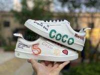 segeltuchschuhe für frauen großhandel-2019 neue beiläufige Designer-Turnschuhe ShoesBest Canvas weiße Schuhe Graffiti CoCo Joint Paar Männer Frauen Schuhe Casual Sportschuhe Chaussures