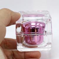 acryl-kosmetik-gläser für cremes großhandel-30G Acryl Sahneglas, Kosmetikglas, Acrylflasche mit Doppelwand Erstellt Diamant Kristallcremeflasche