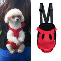 Wholesale backpack dog carriers resale online - Travel Pet Dog Chest Bag Pet Carrier Shoulder Handle Bags Breathable Cat Outdoor Products Portable Mesh Backpack