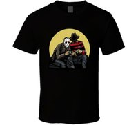 Wholesale playing xbox for sale - Group buy Freddy Krueger Vs Jason Playing Video Games Gamer Ps4 Xbox T Shirt Light Tee Shirt