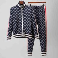 ingrosso giacche a maniche corte-Tute da jogging da uomo di marca progettista con cappuccio stampato felpa felpa slim fit tute per uomo manica lunga giacca felpe