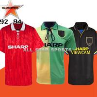 jerseys de fútbol unidos al por mayor-Retro versión 2002 United Centenary 100 camiseta de fútbol v.NISTELROOY fútbol Giggs ESCUELAS Beckham RONALDO 98 99 CANTONA 1994 1993 92 93 94
