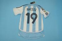 argentinien zuhause großhandel-WM 2006 in Argentinien Heimtrikot-Trikots Sorin Aimar messi Mascherano riquelme Saviola Crespo-Rugby-Trikots in S-XXL