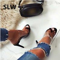 sapatos de salto alto venda por atacado-Primavera verão estilo romano clipe toe sandálias de salto fino senhoras gladiador sandálias sapatos de plataforma mulher 2019 plus size fenty beauty