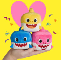 Wholesale music toys for year old for sale - Group buy Popular music Plush shark baby shark enamel luminous doll as a gift for children