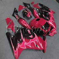 Wholesale 1998 honda f3 plastics for sale - Group buy Botls Gifts pink flames motorcycle cowl for HONDA CBR600F3 F3 ABS Plastic motor Fairing
