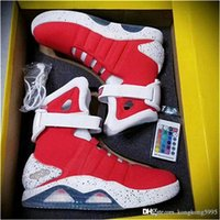 Wholesale red mag resale online - 2019 Fashion Automatic Shoelaces Air Mag Back To The Future Sneakers Men Basketball Shoes Auto Laces Marty Mcfly LED Glow In The Dark