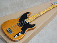 Wholesale precision guitars for sale - Group buy Yellow Strings Precision Bass Guitar with Alder Body Black Pickguard Offer Customized as you request