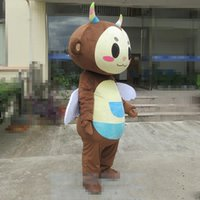 Wholesale insects music resale online - 2018 High quality Adult size Cartoon Insect Beetle Mascot Costume Halloween Christmas Brown Beetle Carnival Dress Full Body Props Outfit Mas