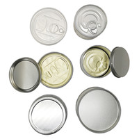 Wholesale metal tins packaging resale online - Metal Tin Cans OEM Stickers Dry Herb Food Cans Smellproof Hand Sealed Empty Bottom Push Flower Packaging Smartbud Jar Containers