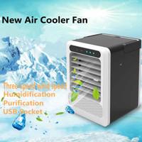 ventilador resfriado venda por atacado-Conveniente Air Cooler Fan digital portátil condicionador de ar Umidificador Espaço Fácil frescos purifica o ar ventilador de refrigeração para Home Office Car Ferramenta HA79
