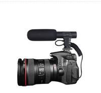 cámara de grabación de vídeo profesional al por mayor-Hifi HD Sound 3.5mm Jack Micrófono Hypercardioid Cámara Video Al aire libre PC Grabación Mic Micrófono profesional de entrevista MIC-05