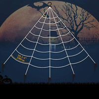 Wholesale web toys for sale - Group buy Simulation Spider Web Halloween Outdoor Cobweb Decorate Prop Triangular Network Super Large Fashion Tricky Toys mb K1