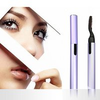 Wholesale perming eyelashes for sale - Group buy Electric Perm Heated Eyelash Curler Portable Pen Style Long Lasting Eye lash Curler Makeup Curling Tools For Women LJJR910