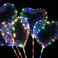 ingrosso mercato leggero-Accessori per la casa del partito LED flash luminoso palloncini mano -Held Saluto sfera Ins Balloon Luci Night Market Led festivi del partito