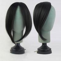 frange latérale longue achat en gros de-Long Bangs Girls Side Bangs Clip synthétique de franges factices dans les extensions de cheveux Blonde Bangs résistant à la chaleur