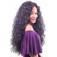 bakire kinky düz dantel peruk toptan satış-Derin Dalga Dantel Ön Peruk Dantel İnsan Saç Peruk Siyah Kadınlar Için Ön Koparıp Düz Vücut Dalga Kinky Kıvırcık Bakire Brezilyalı Saç Peruk