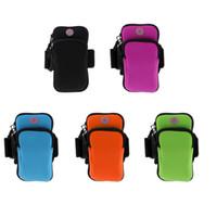 neopren-handy groihandel-MenWomen Outdoor Sports Armband Sweatproof Running Neopren Armbag Arm Paket Tasche Indoor Gym Fitness Schlüsselhalter Handytasche