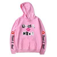 ingrosso vendita di hoodie uomini-Fadun Ariana Grande int Hooded Donna / Uomo popolare Abbigliamento 2019 Harajuku Casual Vendita calda Felpe con cappuccio Kpop felpa Plus Size