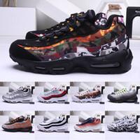 botas premium al por mayor-Hombres 19 95 Zapatillas premium para mujer Zapatillas de deporte Cojines Botas Auténtico M 95s Premium Neon Cool Grey Zapatos deportivos para caminar 36-45