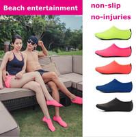 plaj çorapları toptan satış-Plaj Su Sporları Scuba Dalış Çorap 5 Renk Yüzme Dalış kaymaz Sahil Plaj Ayakkabı Nefes Sörf Çorap Kum Oynamak