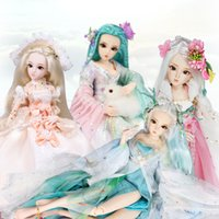 Wholesale new princess wig online - DQ Doll CM BJD Dolls Princess New Arrival SD Dolls With Outfit Elegant Dress Wigs Shose Hat Makeup and handset