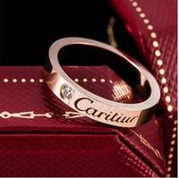 korea pärchen ring groihandel-Titan Stahlring für Männer und Frauen-Edelstahl-Paarring für Japan und Südkorea Schmuck Rotgold