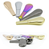 Wholesale spoons gift box for sale - Group buy 1xPcs Detachable Spoon Ladle Tobacco Metal Smoking Pipe Magnet Scoop Zinc Alloy Anodized Dry Herb pipes smoking accessories Gift Box Journey
