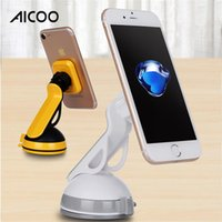 Wholesale rotating universal car windshield mount for sale - Aicoo Rotating Windshield Dashboard Suction Cup Universal Magnetic Car Mount Smart Phone Holder For IPhone XS XR Retail Packaging