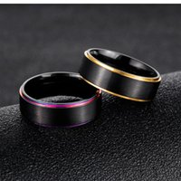 Wholesale width 7mm for sale - Group buy Men Stainless Steel Finger Ring Men mm Width Rings Cool Polished Multicolor Biker Rings Engraved Jewelry GJ615