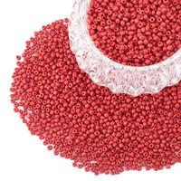 ingrosso perline opache-6/0 Perline di vetro rotondo Pony Bead diametro 4mm Circa 4500 Pz per gioielli Perline sparse FAI DA TE Rosso opaco Colori