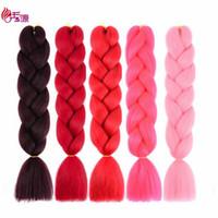 скрученный пк оптовых-Jumbo оплетка наращивание волос 24 дюймов 100 г ПК синтетический твист плетение крючком волосы для черных женщин Xiuyuanhair